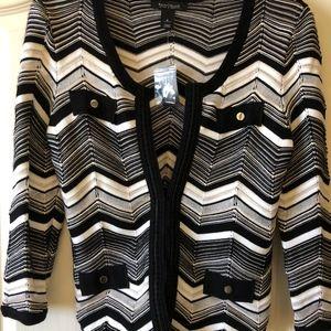 Black and white knit jacket